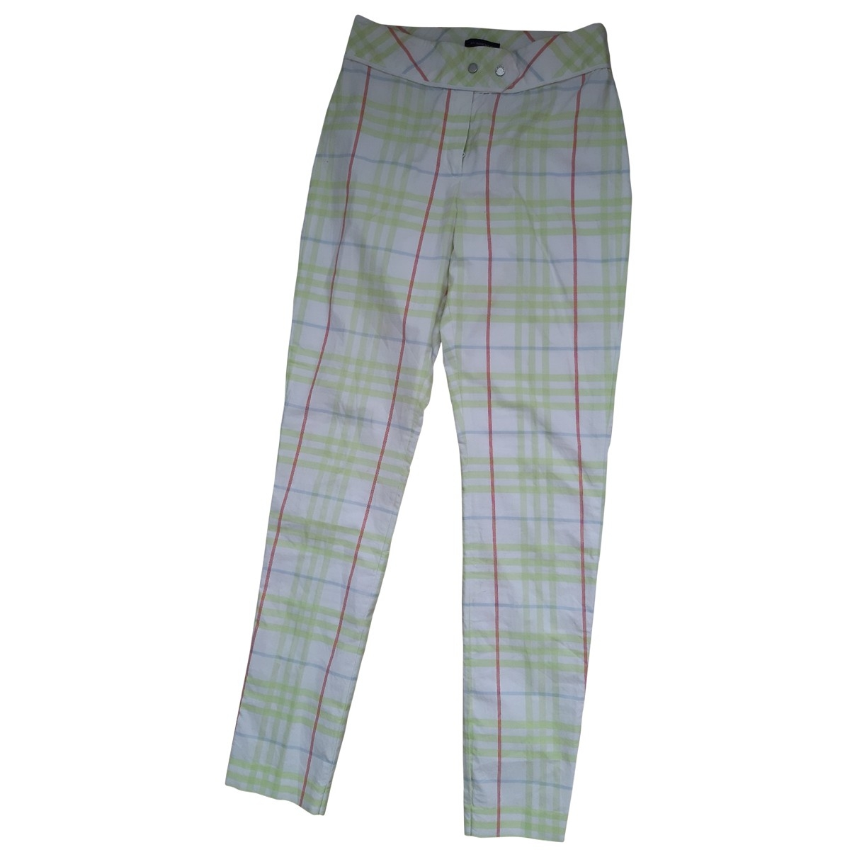 Burberry \N Green Cotton Trousers for Kids 14 years - S FR