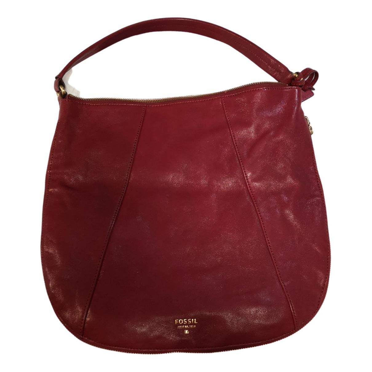 Fossil N Red Leather handbag for Women N