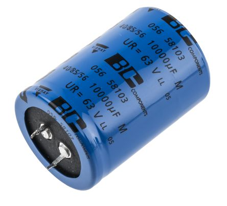 Vishay 10000μF Electrolytic Capacitor 63V dc, Through Hole - MAL205658103E3