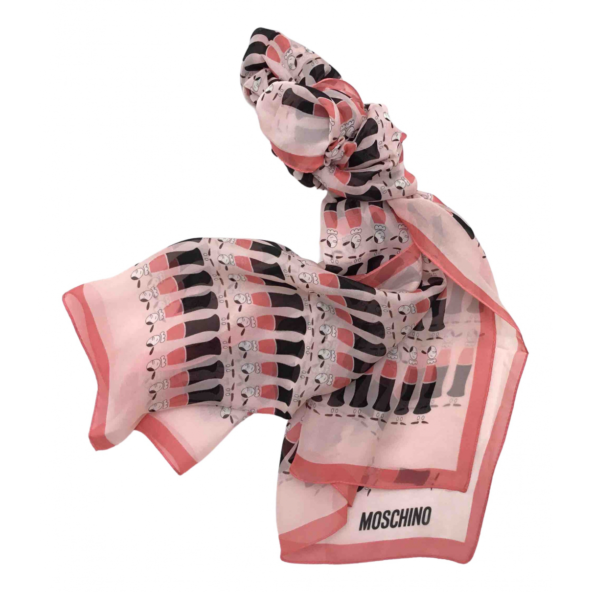 Moschino \N Schal in  Rosa Seide