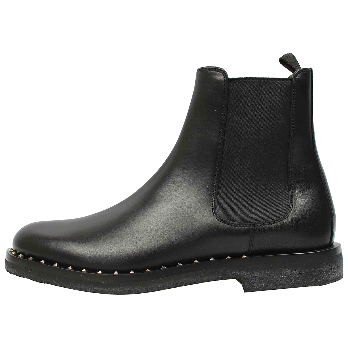 Valentino Garavani N Black Leather Boots for Men 42 EU