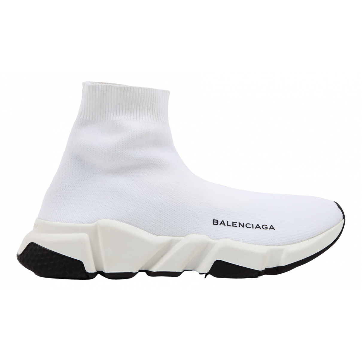 Balenciaga Speed Sneakers in  Weiss Leinen