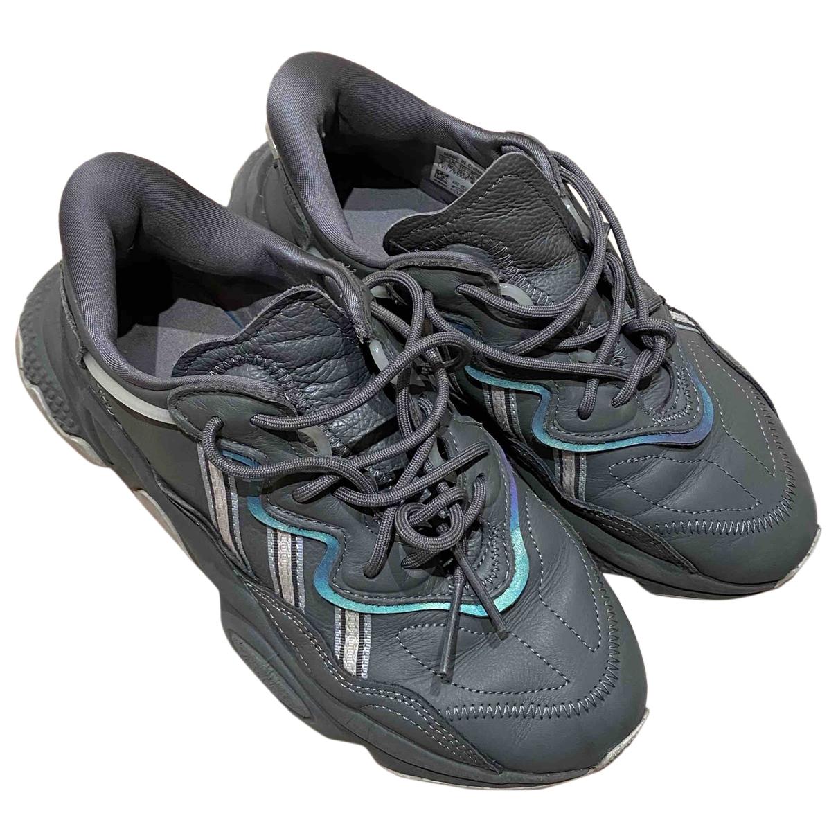 Adidas Ozweego Grey Leather Trainers for Women 5.5 UK