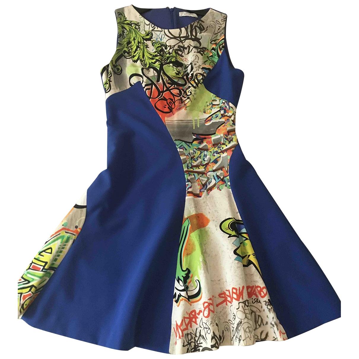 Versace \N Kleid in  Blau Baumwolle - Elasthan