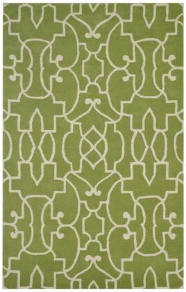 BBDBD8864L2000912 Bradberry Downs BD8864-9 x 12 Hand-Tufted 100% Premium Blended Wool Rug in Lime White  Rectangle