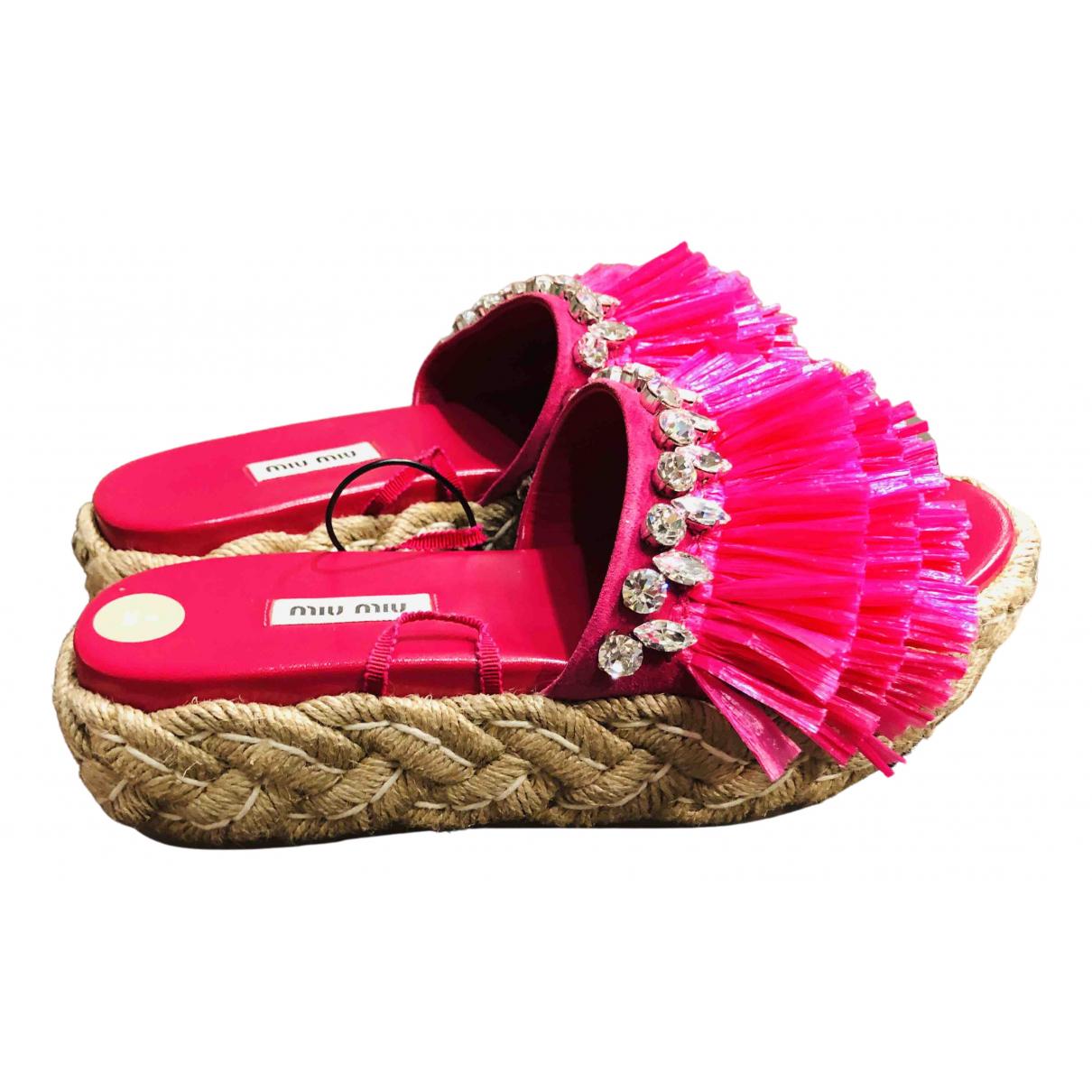 Miu Miu \N Pink Cloth Espadrilles for Women 39 EU