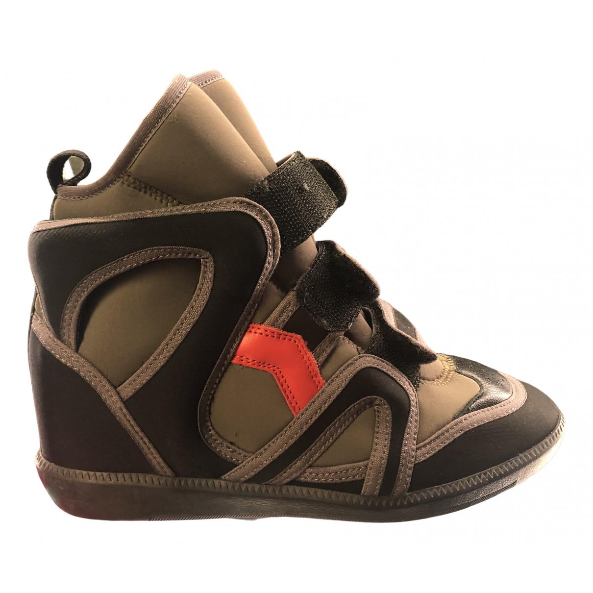 Isabel Marant \N Sneakers in  Braun Leinen