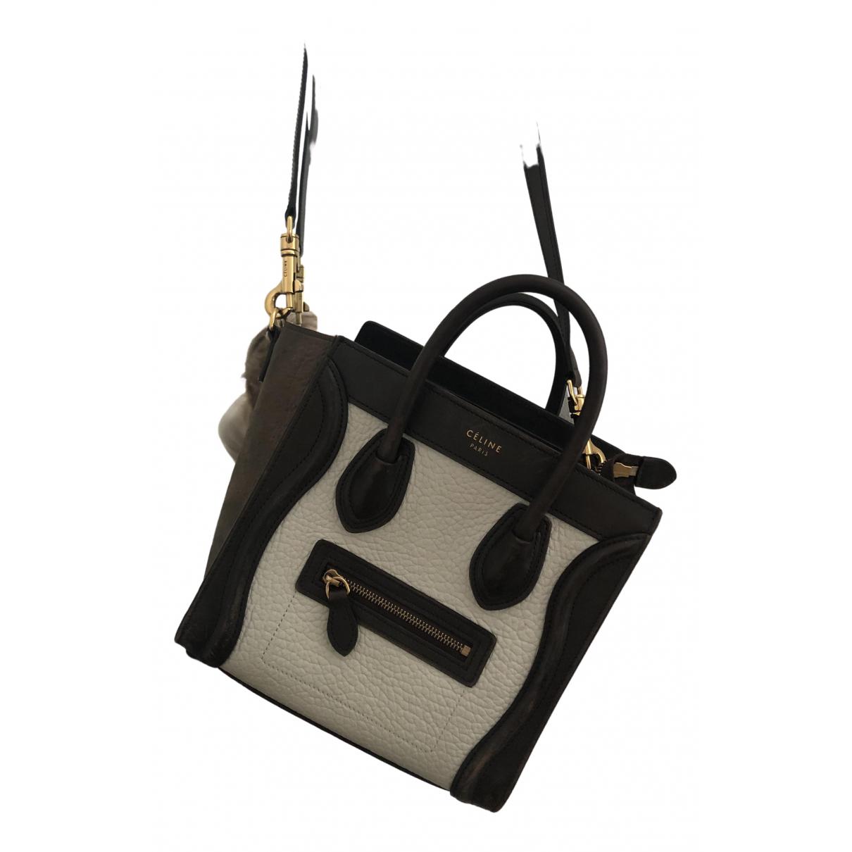 Celine Nano Luggage White Leather handbag for Women \N