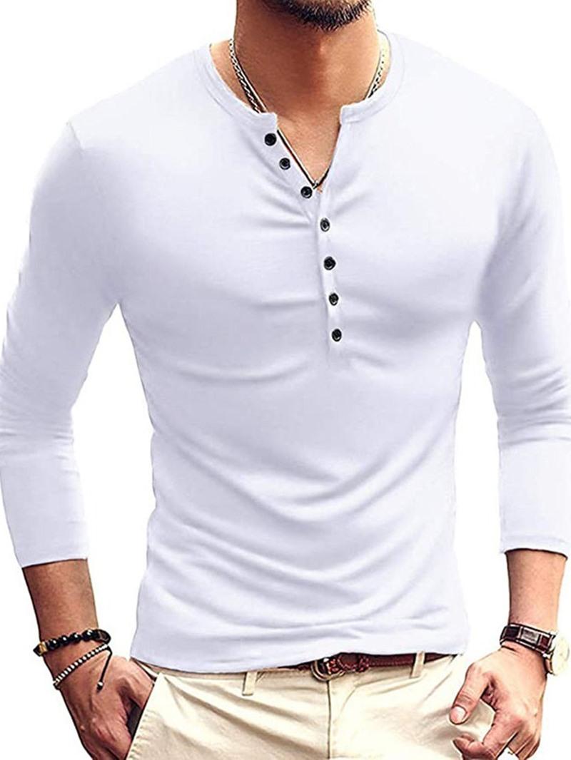 Ericdress Plain England Long Sleeve Pullover T-shirt