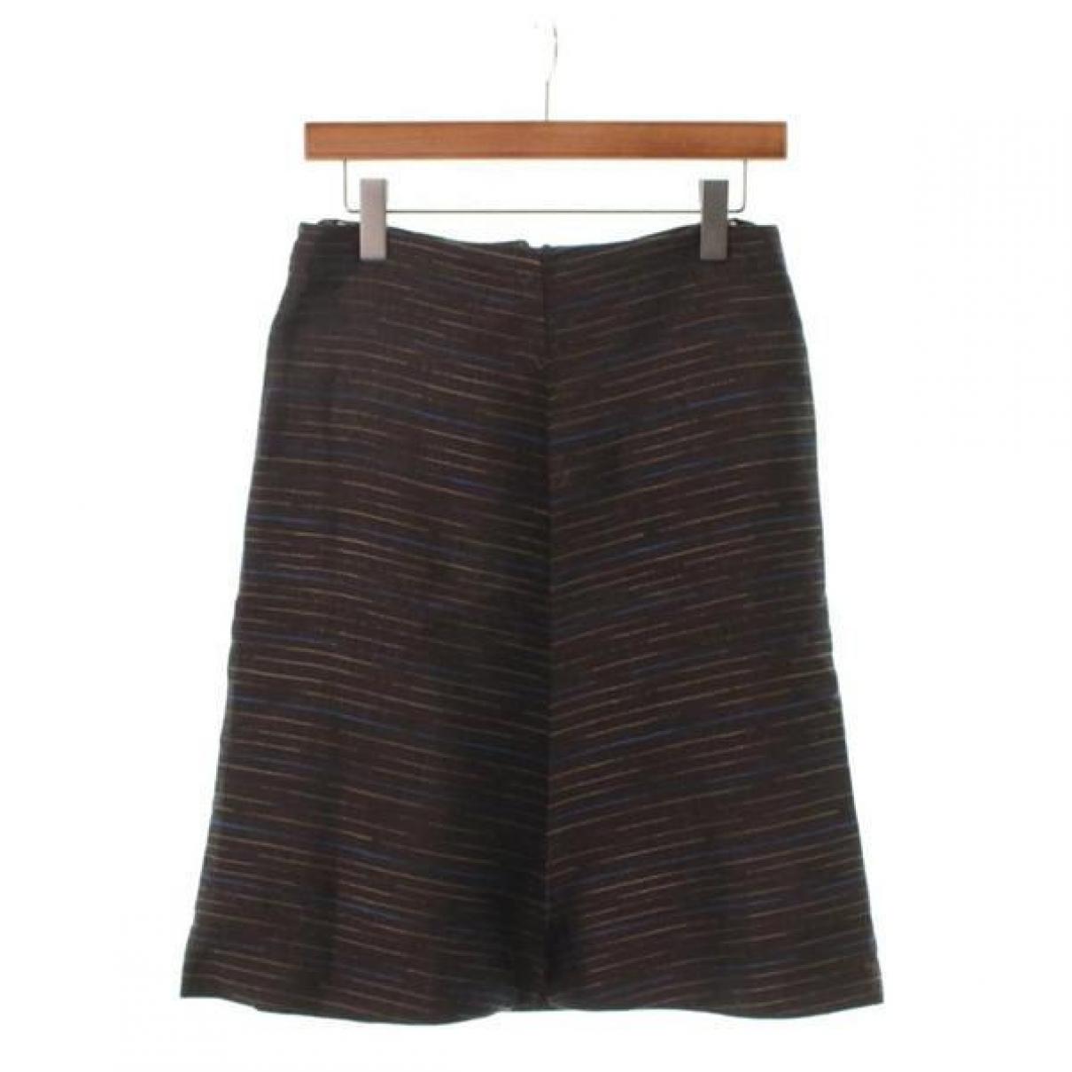 Marni - Jupe   pour femme en soie - marron
