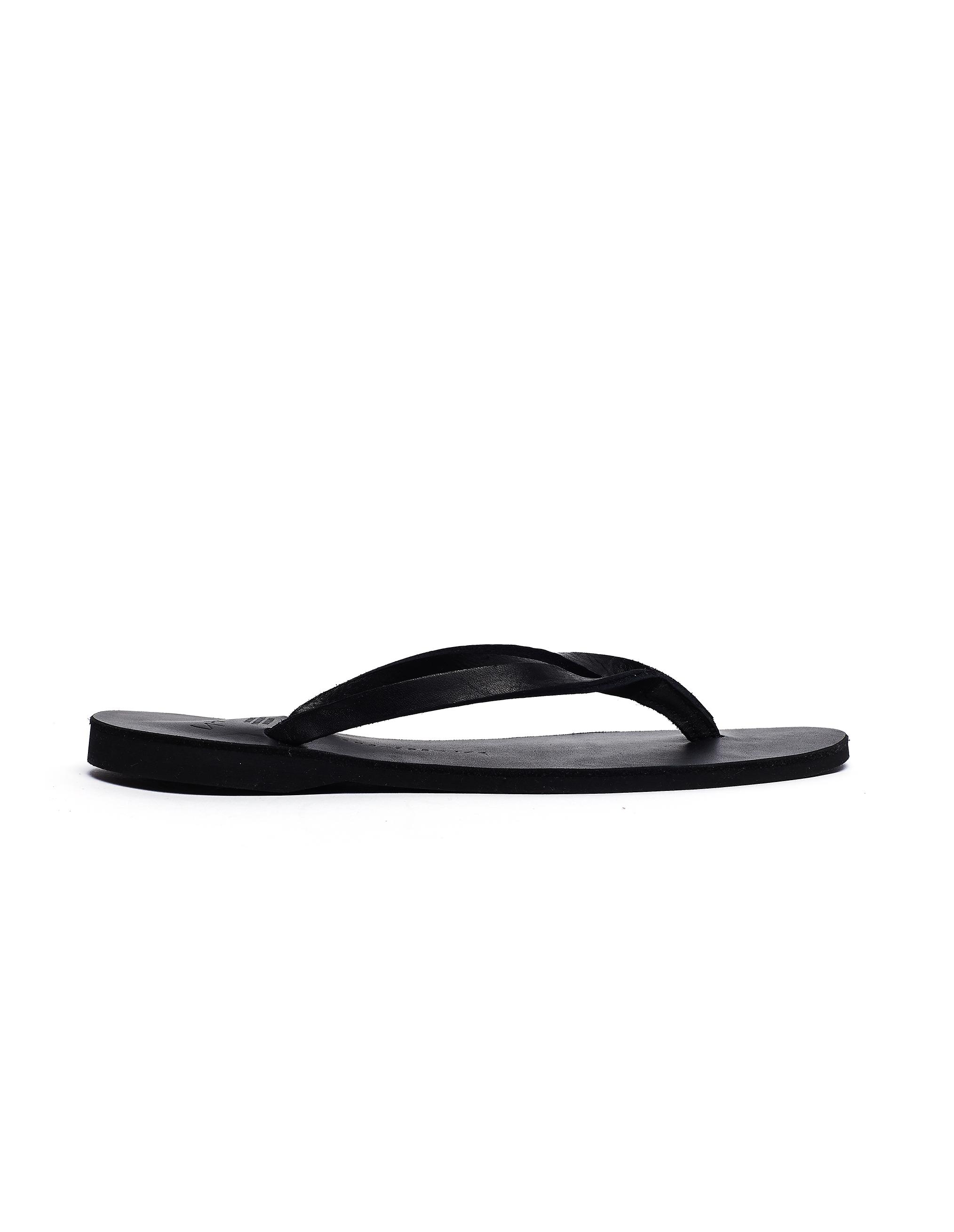 Yohji Yamamoto Black Leather Flip-Flops