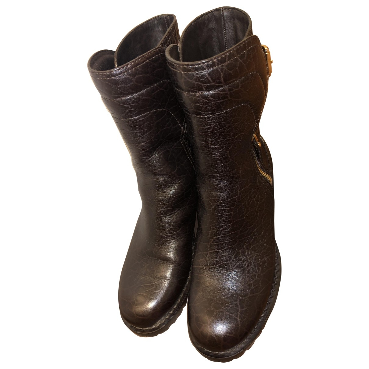 Louis Vuitton \N Brown Leather Boots for Women 37,5 EU