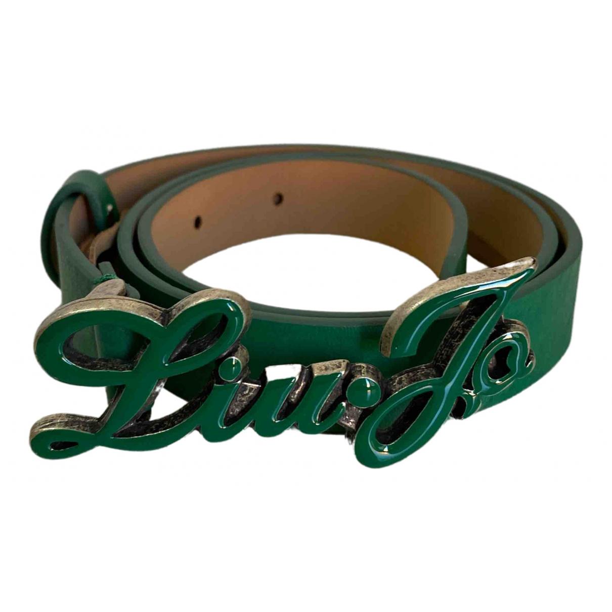 Liu.jo \N Green Leather belt.Suspenders for Kids \N