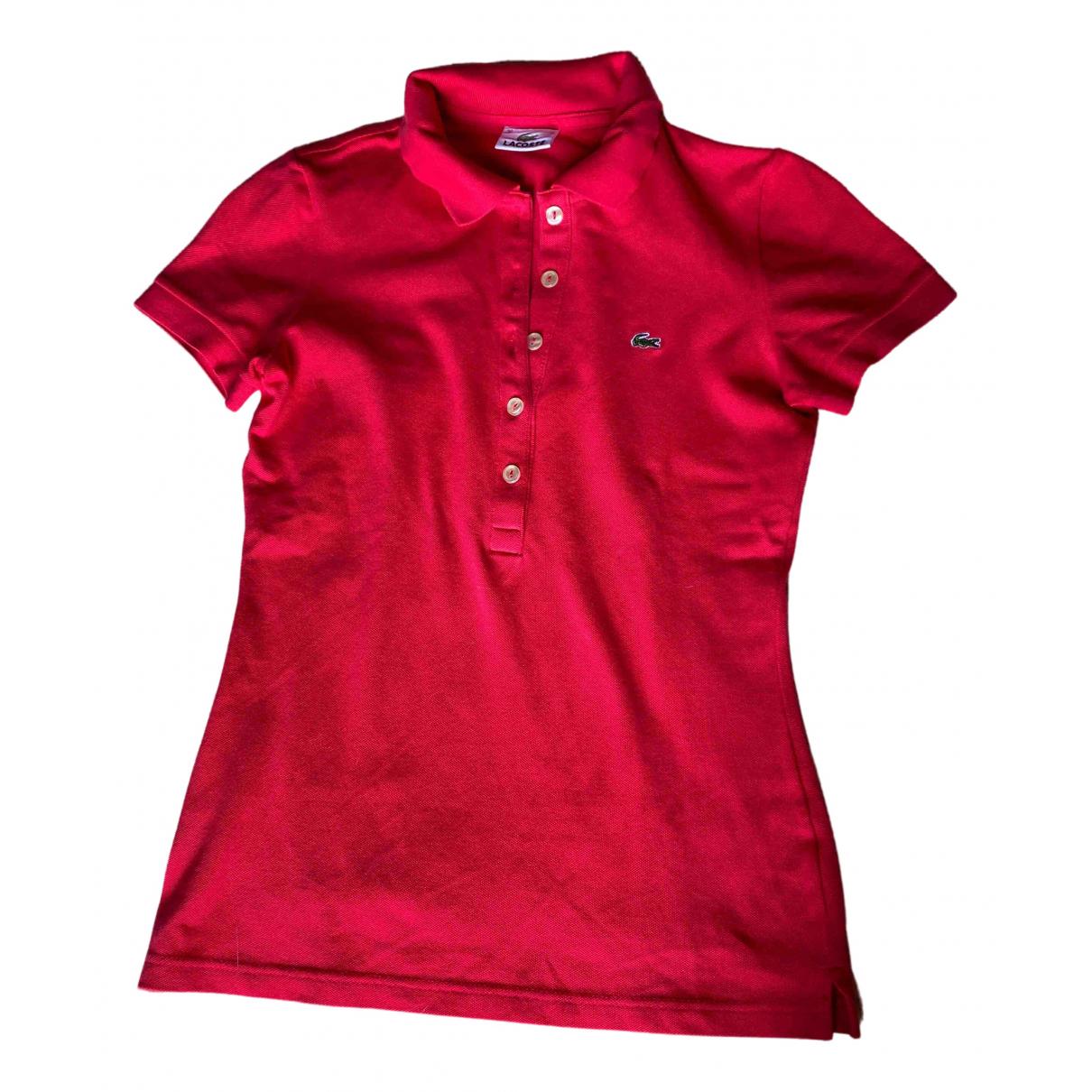 Lacoste - Top   pour femme en coton - rose