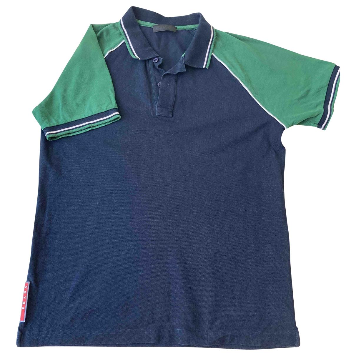 Prada \N Poloshirts in  Blau Baumwolle