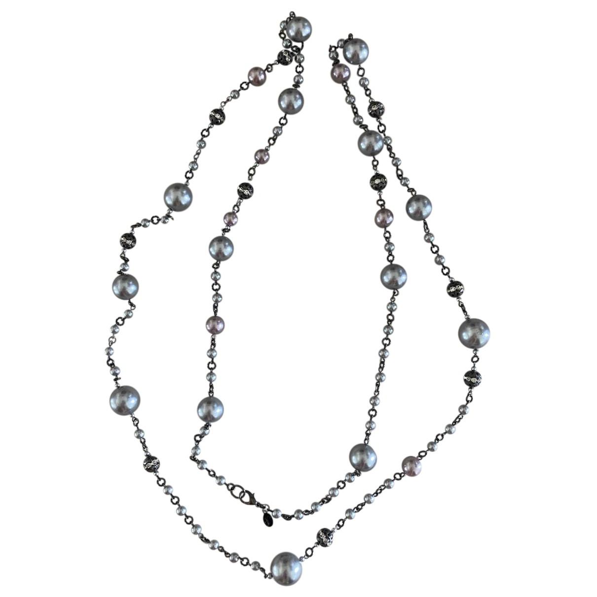 - Collier   pour femme en metal - gris