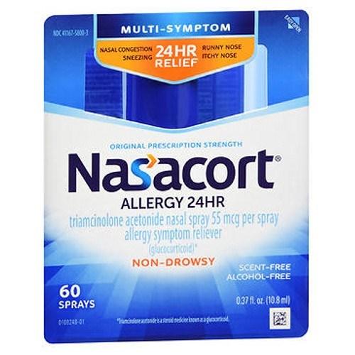 Nasacort Allergy 24 Hr Multi-Symptom Nasal Allergy Spray 0.37 Oz by Nasacort