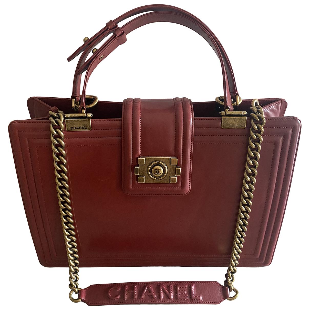 Chanel N Burgundy Leather handbag for Women N