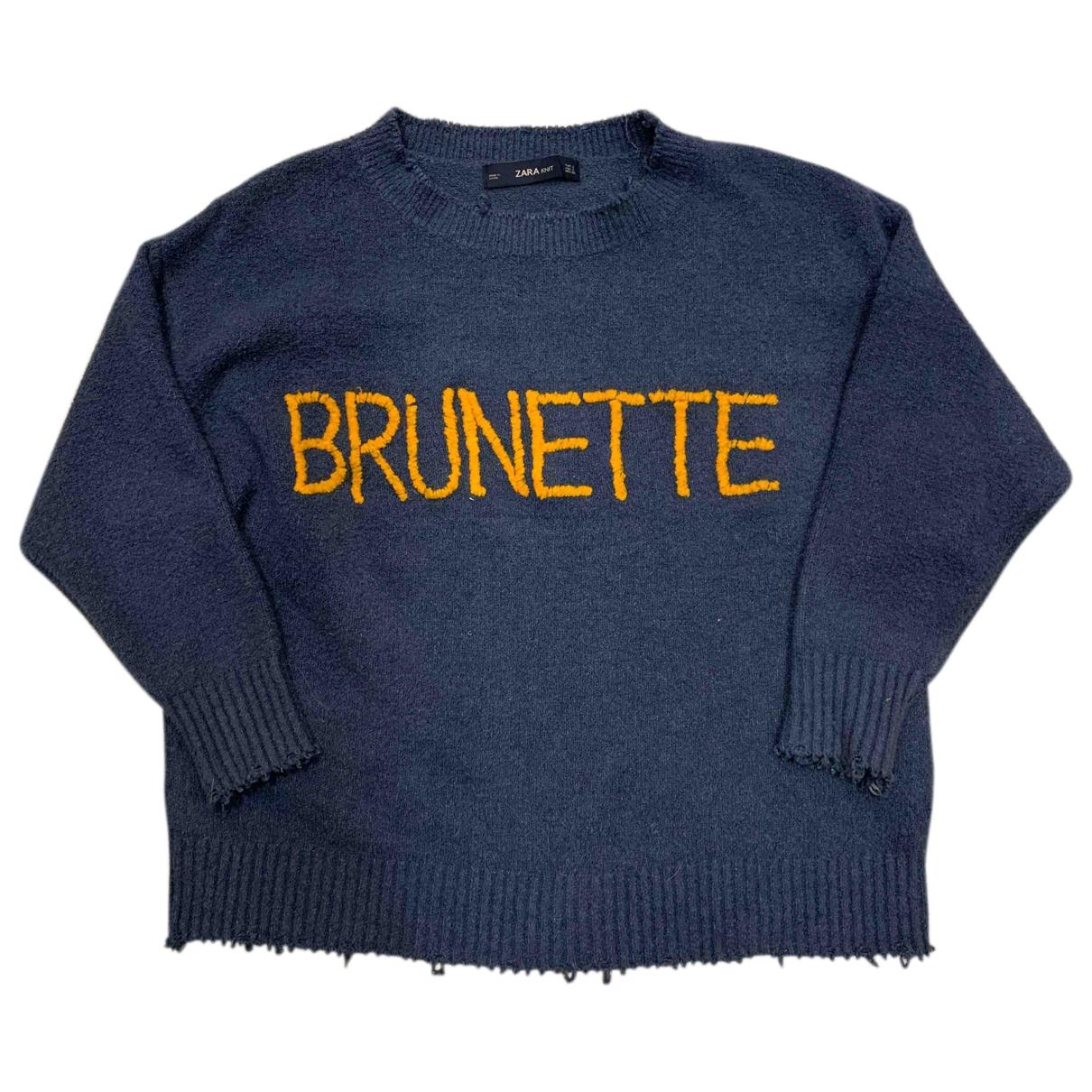 Zara \N Pullover in  Blau Baumwolle