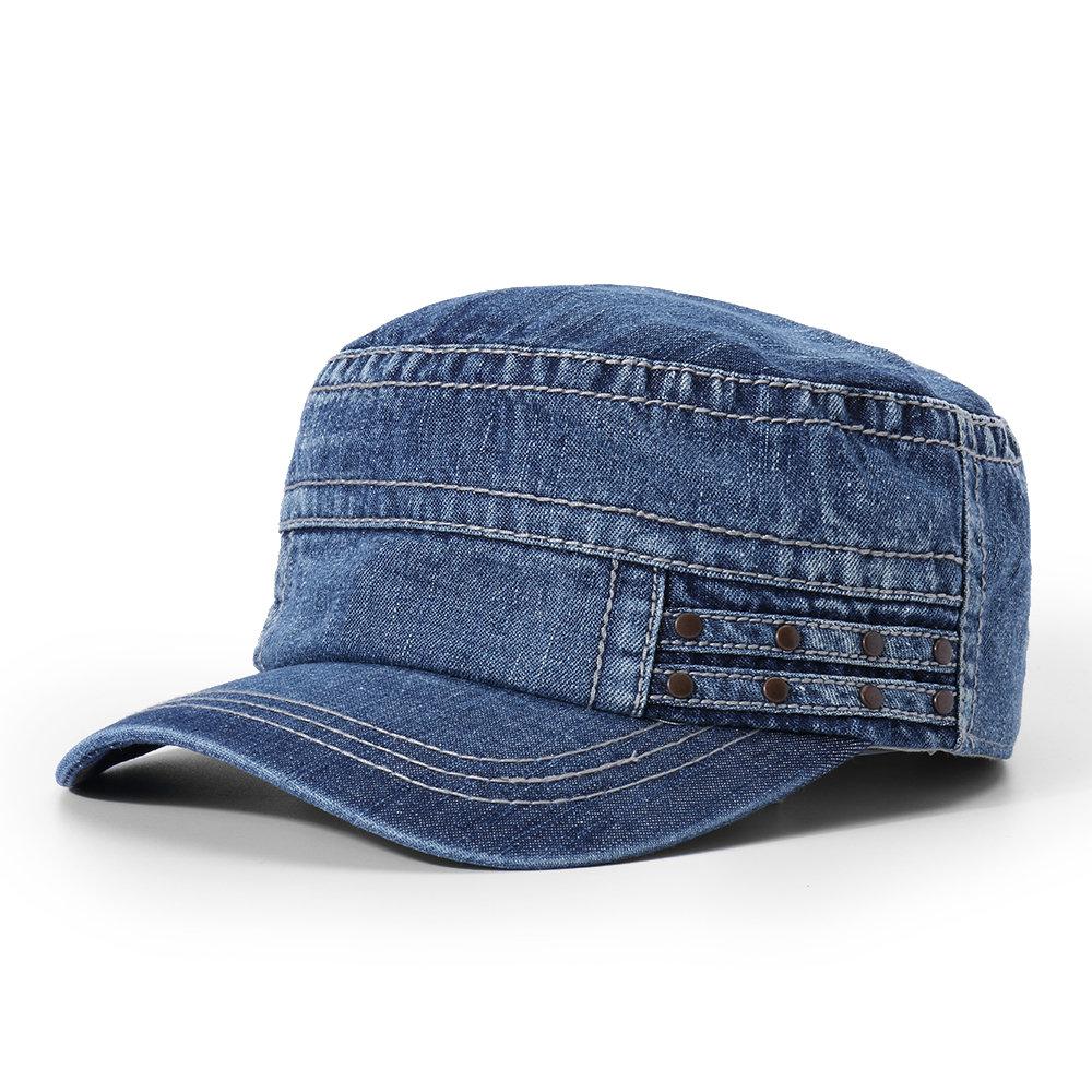 Men Vogue Cotton Visor Flat Cap Sunshade Casual Outdoors Simple Adjustable Hat