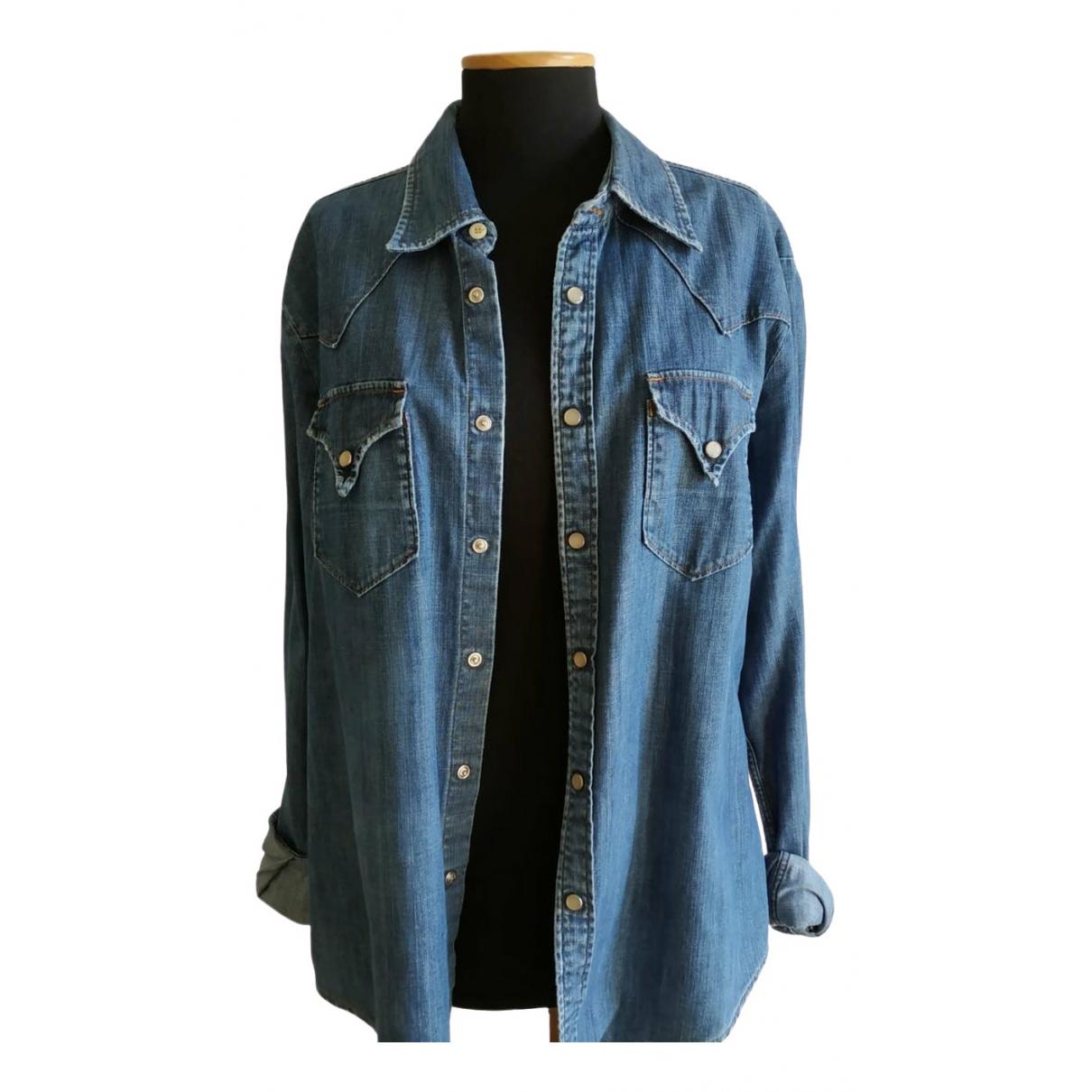 Htc \N Hemden in  Blau Baumwolle