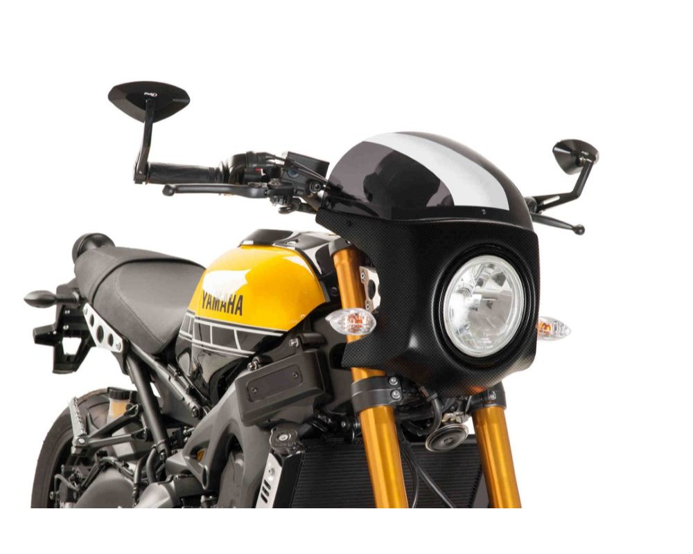 Puig 9188F Retro Semi Fairing - Carbon Look Dark Smoke Yamaha XSR900 2016