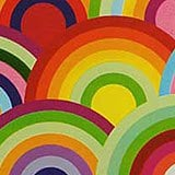 Happy Circles Large Gift Wrap Rolls - 30 X 833' - Gift Wrapping Paper - Type: Colored Ink On High Gloss White Heavy Wt. Paper by Paper Mart