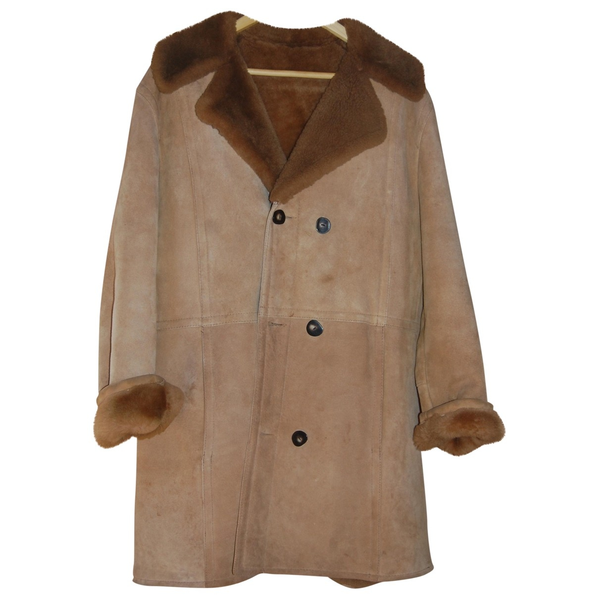 Non Signé / Unsigned \N Camel Suede coat for Women 42 FR