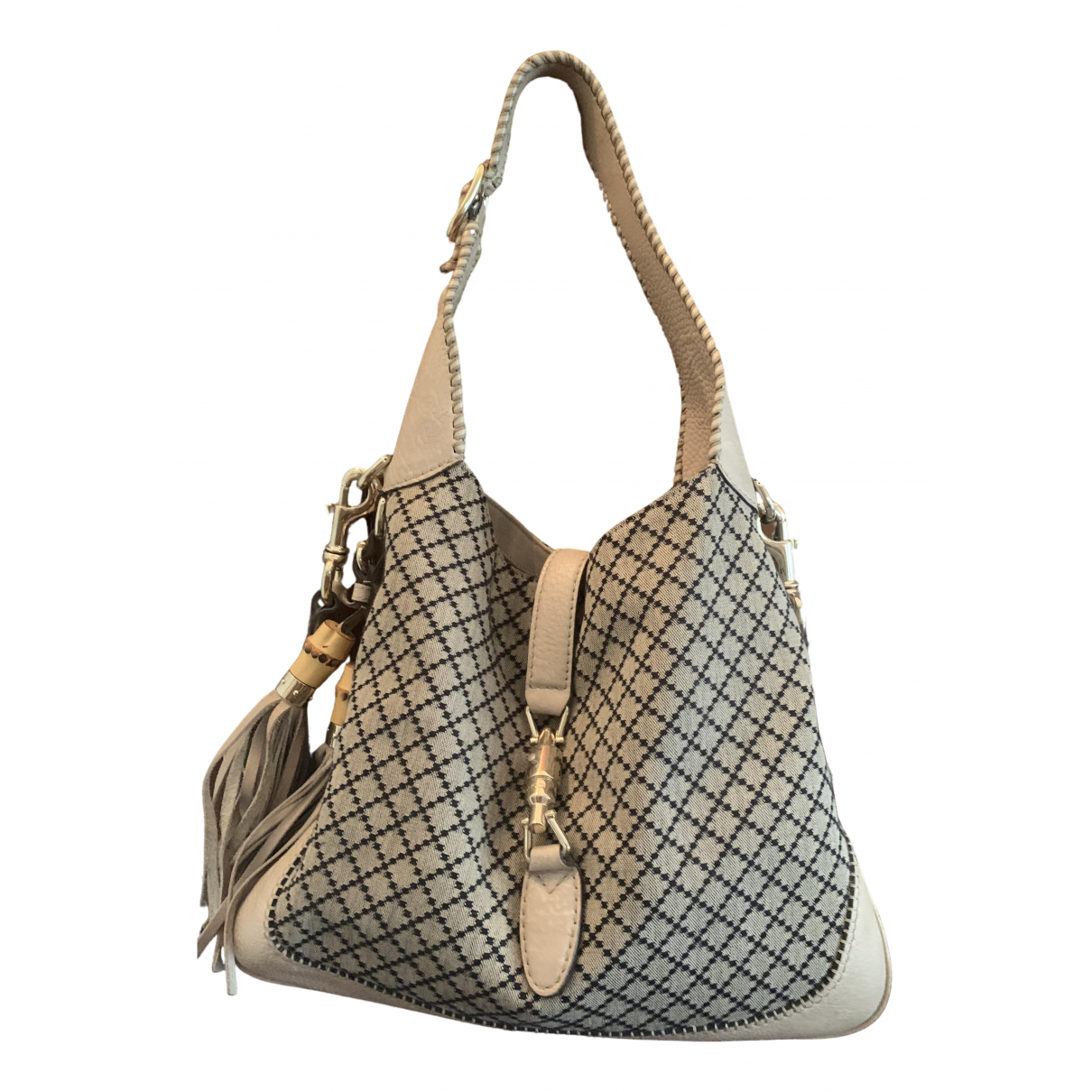 Gucci Jackie Vintage  Grey Leather handbag for Women \N