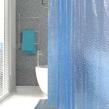 1 Stueck Einfarbiger Duschvorhang mit 12 Haken