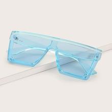 Gafas de sol superior plano transparente