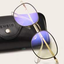 Gafas de luz anti azul de hombres de marco metalico
