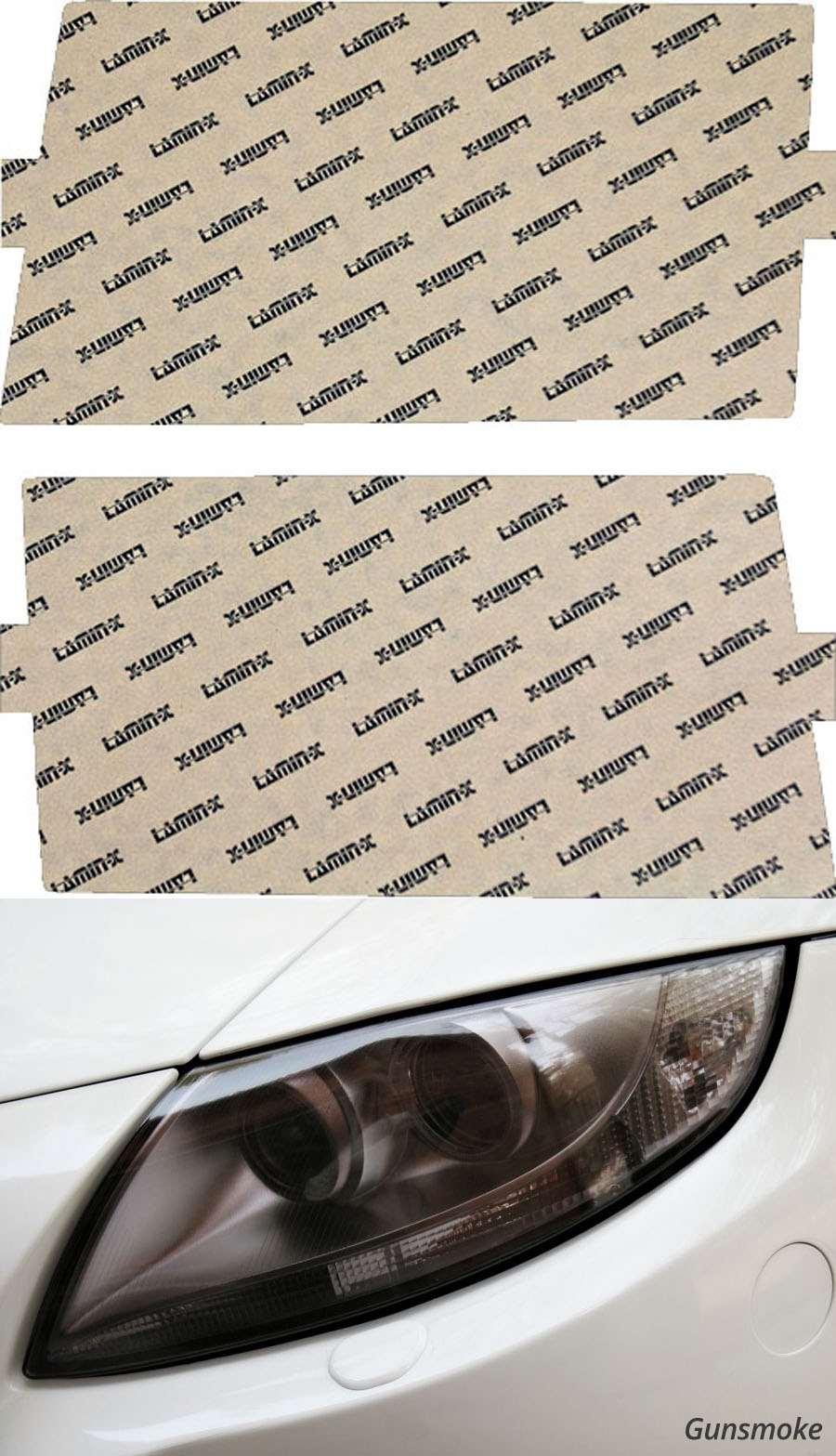 Mercedes E-Class 86-93 Gunsmoke Headlight Covers Lamin-X MB628G