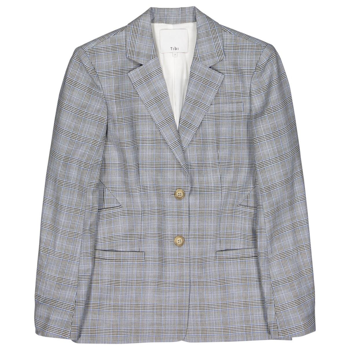 Tibi - Veste   pour femme en laine - gris