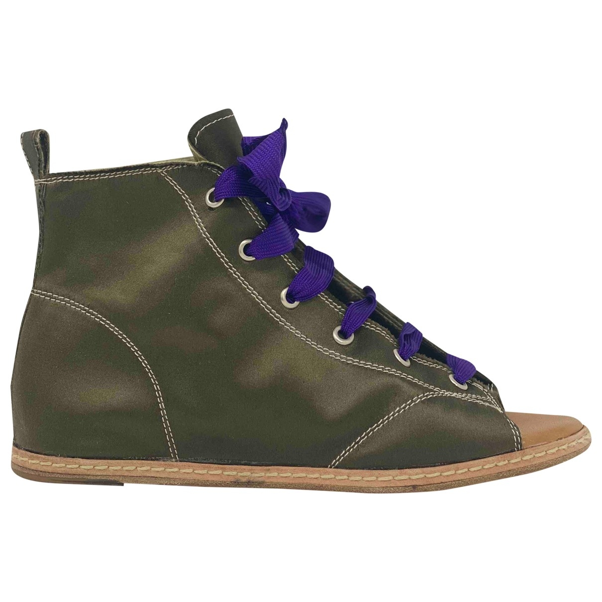 Giuseppe Zanotti \N Green Ankle boots for Women 37 IT