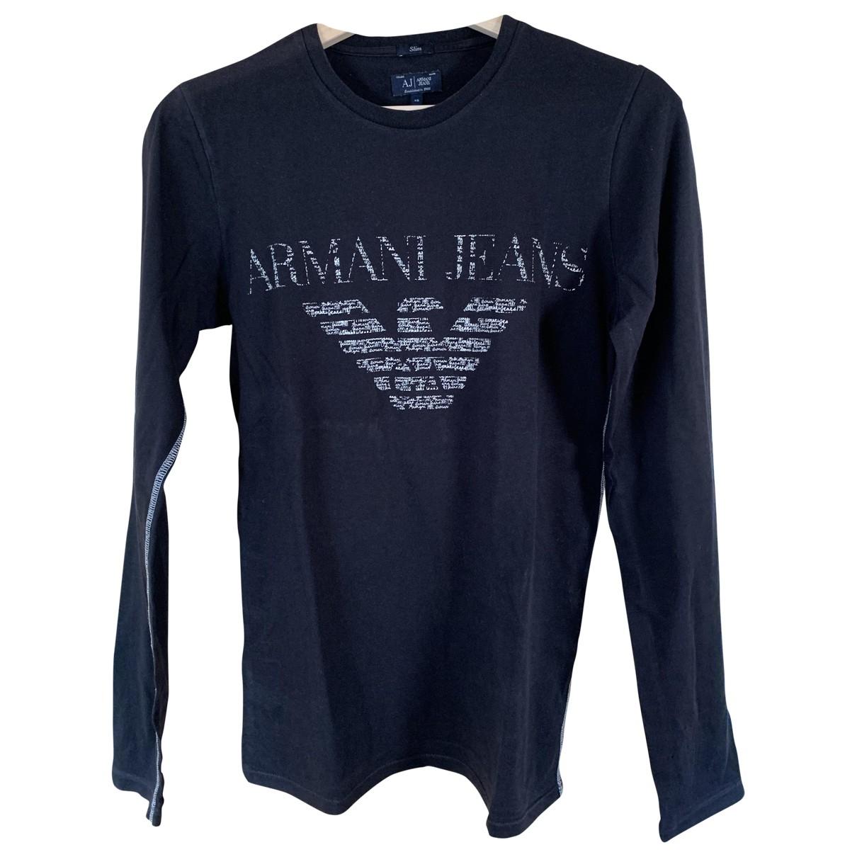 Armani Jean - Tee shirts   pour homme en coton - noir