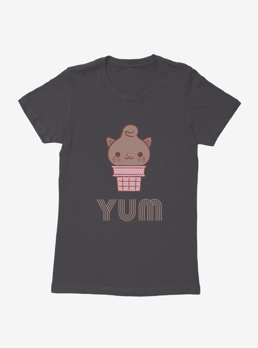 Kitty Cones Yum Womens T-Shirt