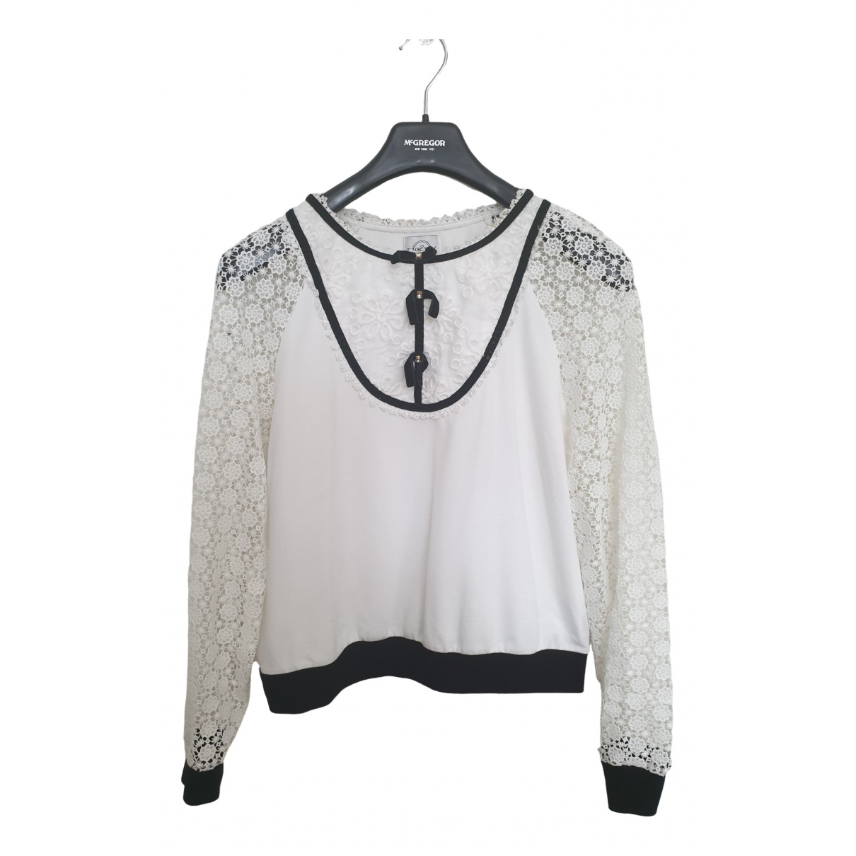 Non Signé / Unsigned \N White Knitwear for Women 40 FR