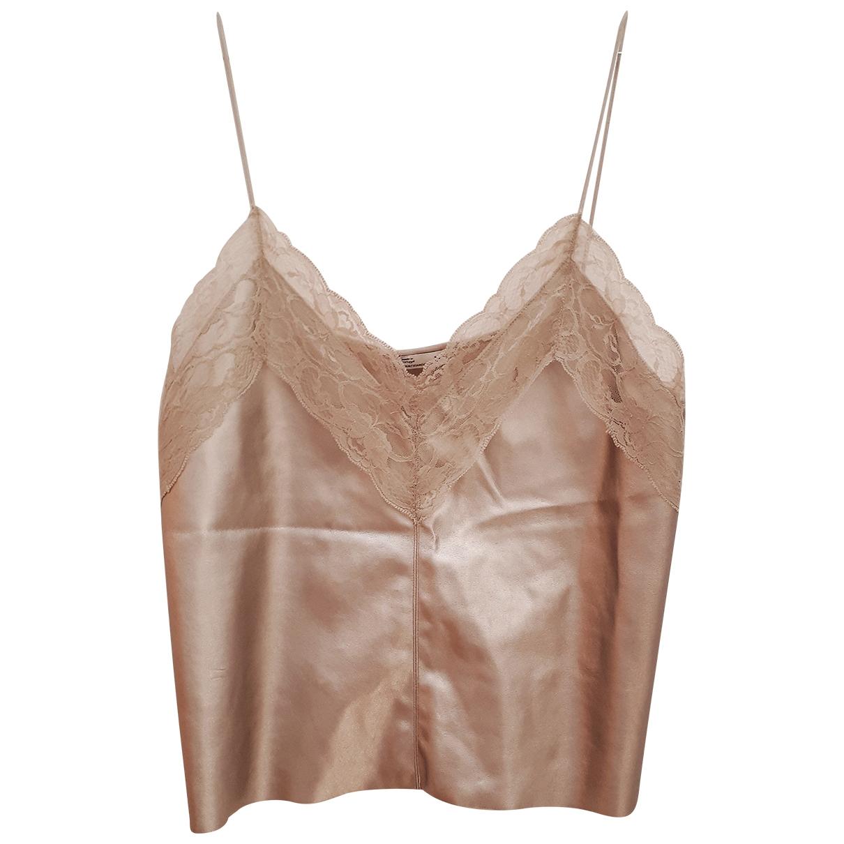 Zara \N Top in  Metallic Synthetik