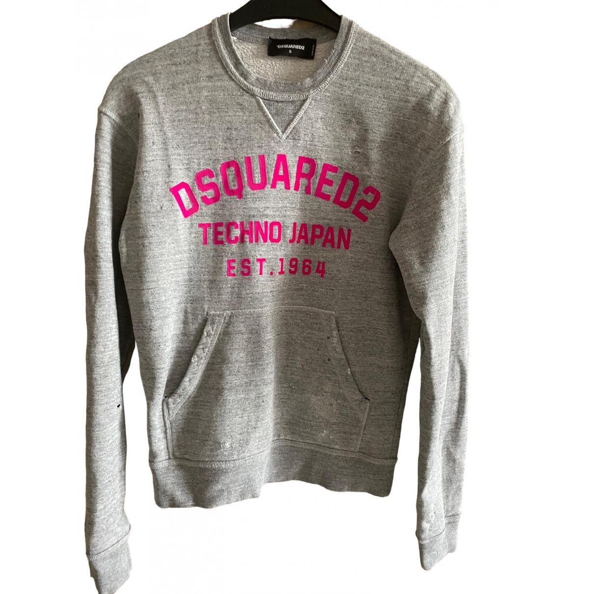 Dsquared2 \N Pullover.Westen.Sweatshirts  in  Grau Baumwolle