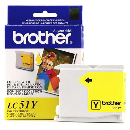 Brother LC51Y Original Yellow Ink Cartridge