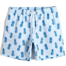 Men Allover Pineapple Print Swim Trunks