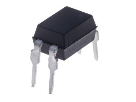 Isocom , TLP621 DC Input NPN Phototransistor Output Optocoupler, Through Hole, 2-Pin DIP (100)