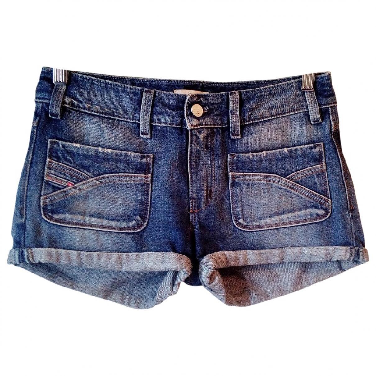 Diesel \N Blue Denim - Jeans Shorts for Women 40 IT