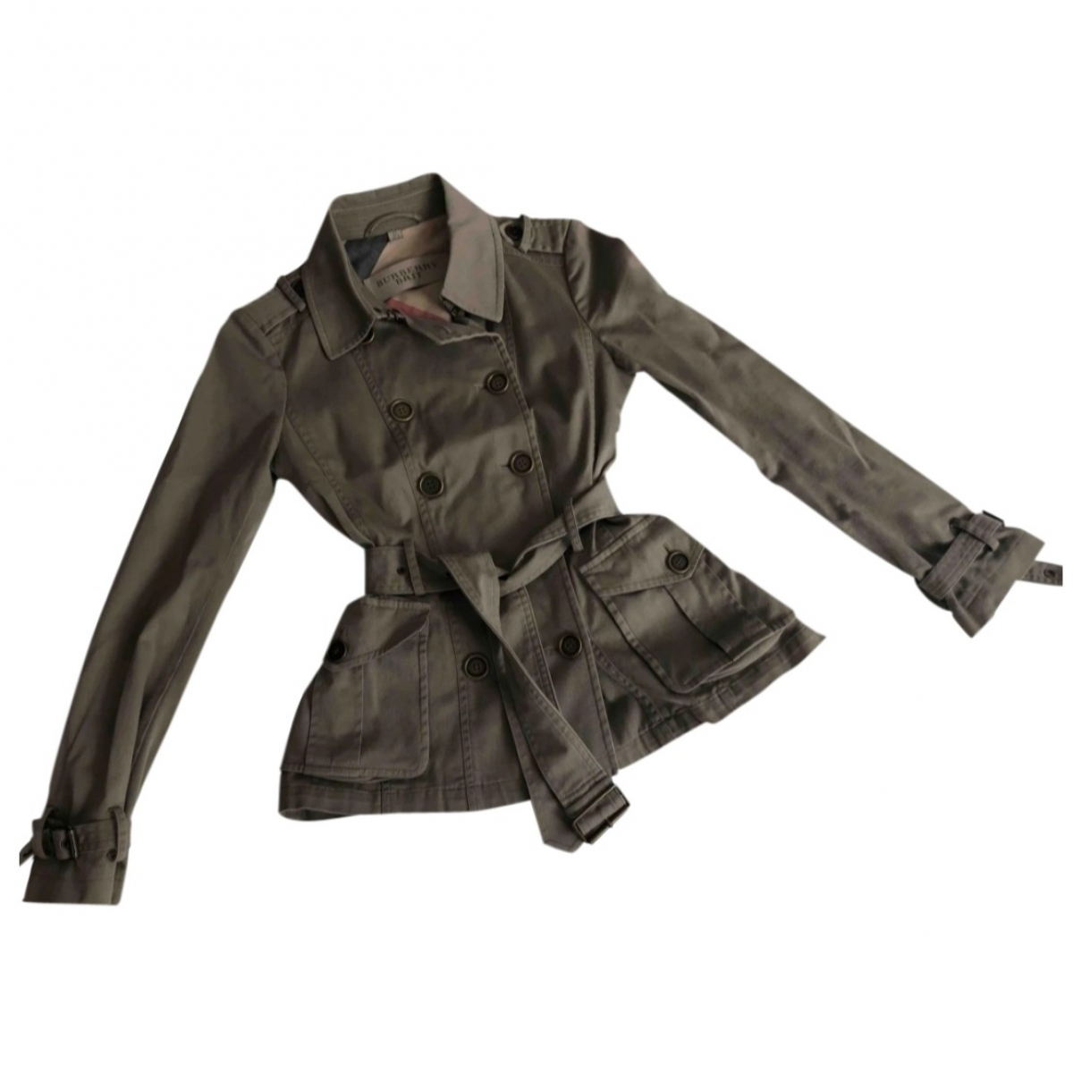 Burberry \N Beige Cotton Trench coat for Women 38 IT