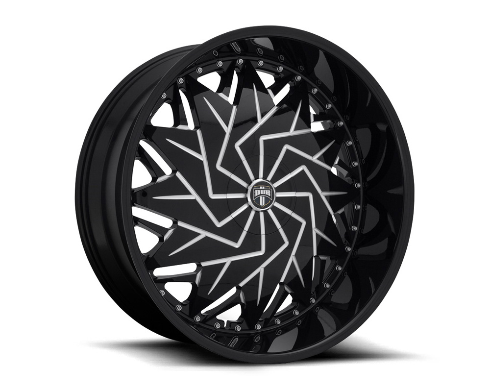 DUB S231 Dazr Gloss Black & Milled 1-Piece Cast Wheel 26x9 5x114.3|5x120 25mm