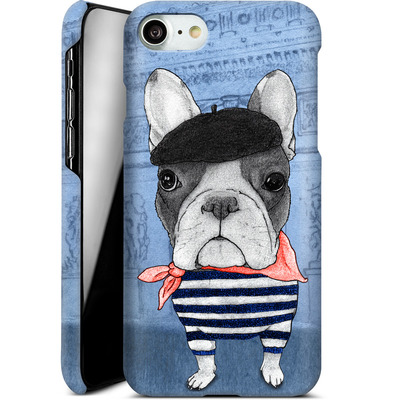 Apple iPhone 7 Smartphone Huelle - French Bulldog with Arc de Triomphe von Barruf