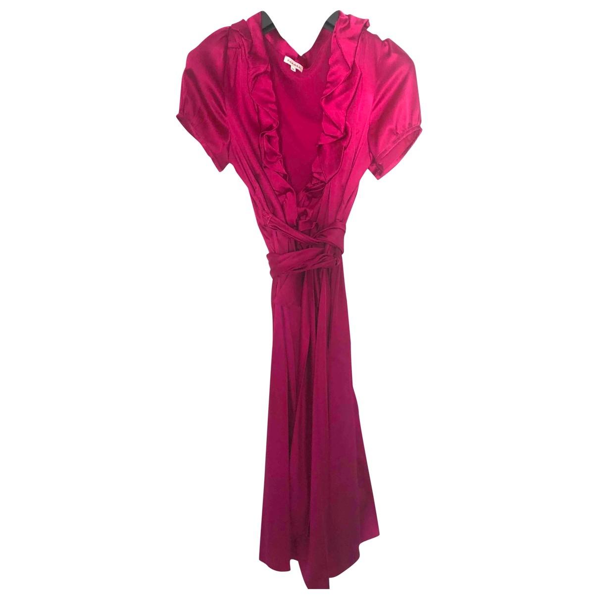 Vestido midi de Seda Parosh