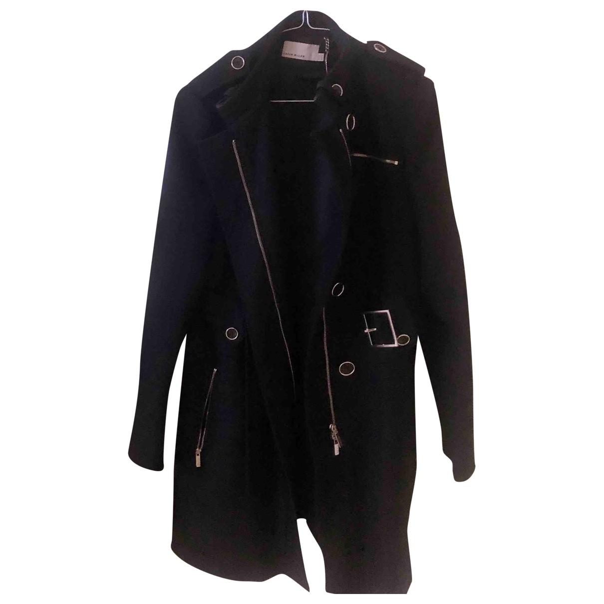 Karen Millen - Manteau   pour femme en coton - noir