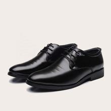Men Lace-up Decor Dress Shoes